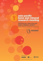 asia-pacific bone and mineral research meeting - anzbms