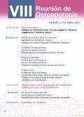 VIII Reunión de Osteoporosis - Sociedad Española de Medicina ... - Page 6