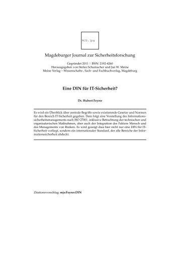 local copy - Dr. Hubert Feyrer