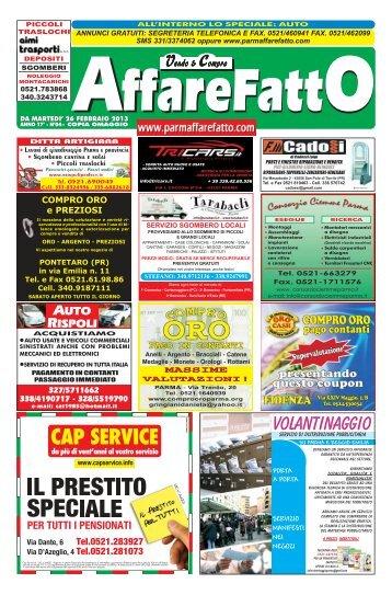 VOLANTINAGGIO - Affare Fatto Parma