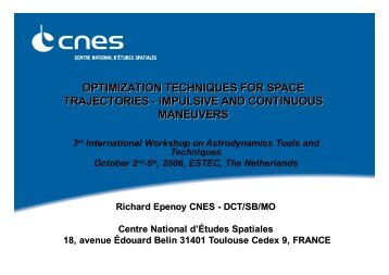 optimization techniques for space trajectories - Index of - ESA