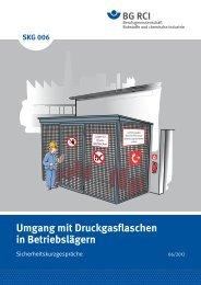 SKG 006 Umgang mit Druckgasflaschen in Betriebslägern