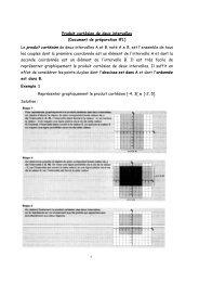 Produit cartésien de deux intervalles (Document de préparation #1 ...