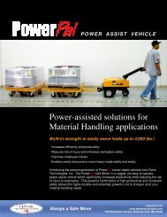 Power-assisted solutions for Material Handling applications