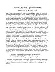 Automatic Zoning of Digitized Documents