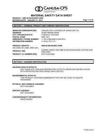 HBE-95G RG/XG/WG - Cure - Canusa-CPS