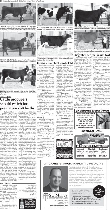 Pages 8A-14A. - Kingfisher Times and Free Press
