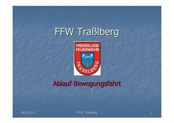 Ablauf Bewegungsfahrt - Feuerwehr Trasslberg