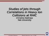 Studies of Jets through Correlations in Heavy Ion ... - RHIG AT YALE
