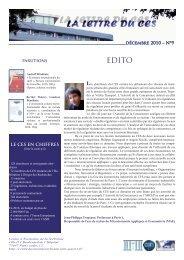 parutions décembre 2010 – N°9 LE CES EN CHIFFRES - Centre d ...