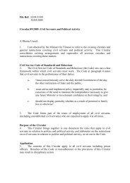 Circular 09/2009 – Civil Servants and Political Activity - Human ...