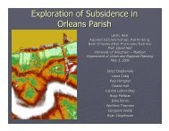 Exploration of Subsidence in Orleans Parish - Wisconsin Coastal ...