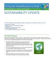 Q2 2012 Sustainability Update - Colgate