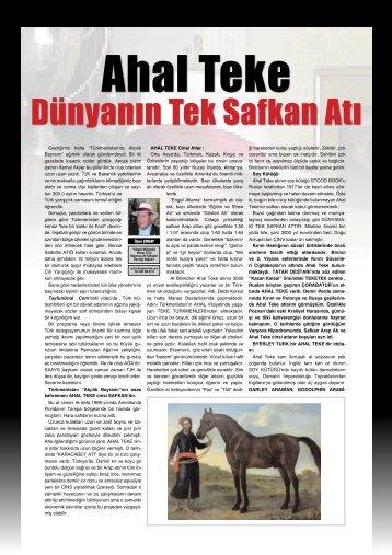 """Geçtiğimiz hafta """"Türkmenistan'da Atçılık Bayramı ... - LiderForm"""