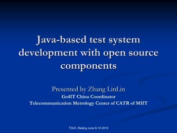 Java-based test system development with open source ... - TTCN-3