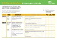 JMO Clinical Handover Implementation checklist - ARCHI