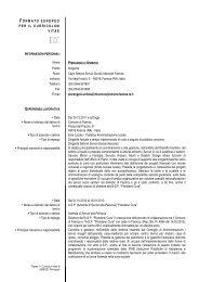 Curriculum e recapiti di Pierangelo - Comune di Faenza