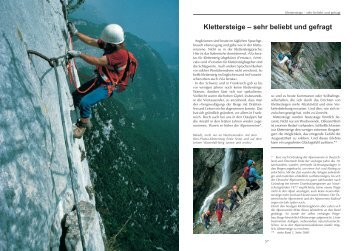 Klettersteige – sehr beliebt und gefragt