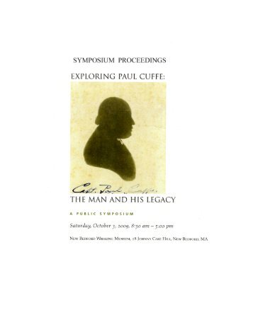 Exploring Paul Cuffe - New Bedford Historical Society