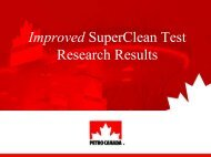 Improved SuperClean Test Results - oxytane