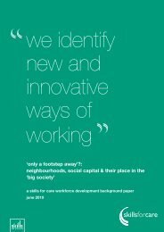 'Only a footstep away' - Skills for Care - Think Local Act Personal