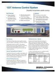 123T Antenna Control System - General Dynamics SATCOM ...
