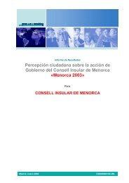 Menorca 2003 - Consell Insular de Menorca