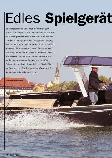Ein Walkaroundboot kann man als Fischer- oder Arbeitsboot kaufen ...