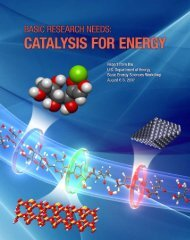 Basic Research Needs: Catalysis for Energy - Argonne National ...