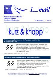 Informations mail - Fahrschule