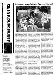 Jahresbericht 01/02 - Floorball Zurich Lioness
