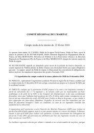 Compte rendu de la réunion du 22 février 2010 - DRIHL Ile-de-France