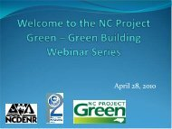Welcome and Overview - NC Project Green