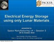 Electrical Energy Storage using Lunar Materials