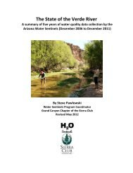 The State of the Verde River - Arizona Sierra Club