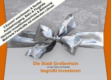 Die Stadt Großenhain begrüßt Investoren