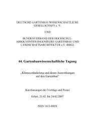 44. Gartenbauwissenschaftliche Tagung - (DGG) und des