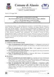 Relazione consuntiva- piano triennale 2008-2010 - Comune di Alassio