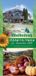 Veranstaltungskalender Juli-Dez.2009.indd - Hotel Waldesruh