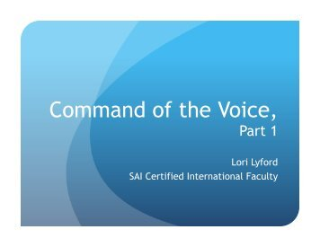 Command of the Voice Pt 1 - Region 21
