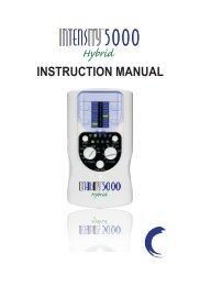 Intensity 5000 Manual - Current Solutions LLC