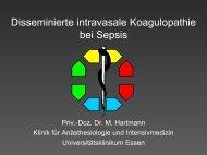 Disseminierte intravasale Koagulopathie bei Sepsis