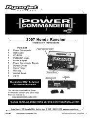 2007 Honda Rancher Dynojet Research 2191 Mendenhall Drive ...