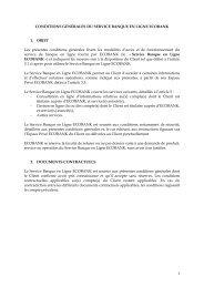 1 CONDITIONS GENERALES DU SERVICE BANQUE EN ... - Ecobank