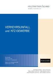 VERKEHRSUNFALL und KFZ-GEWERBE - Holztrattner / Schmid ...