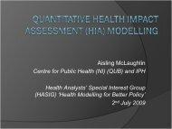 Modelling - Institute of Public Health in Ireland
