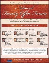 National Family Office Forum - Handler Thayer, LLP