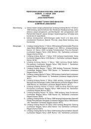 peraturan daerah provinsi jawa barat nomor 8 tahun 2006 tentang ...