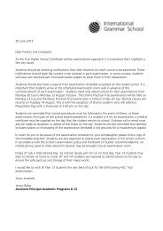20 June 2012 Dear Parents and Caregivers As the Trial Higher ...