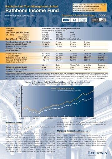 Rathbone Income Fund - Rathbone Unit Trust Management